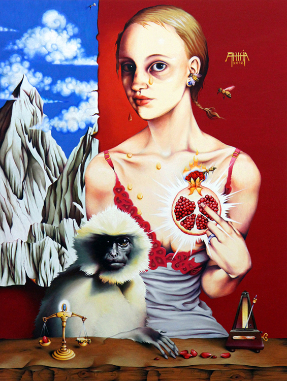 Lady with a Langur